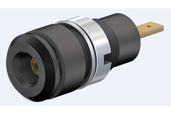 Product image for 2mm panel socket, 2.8mm tab, black