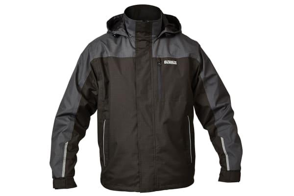 Product image for Dewalt Grey Waterproof Jacket W/Hood M
