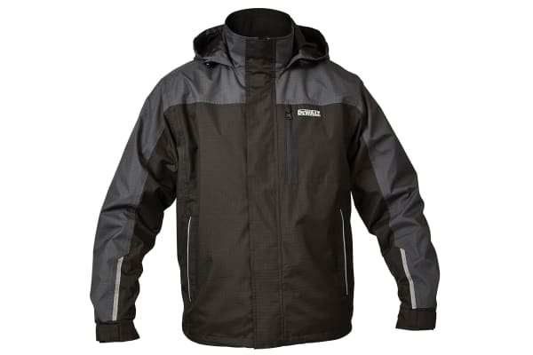 Product image for Dewalt Grey Waterproof Jacket W/Hood L