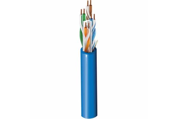Product image for PVC Cat6 4 pair UTP Datatwist 305m blue
