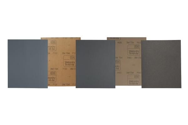 Product image for 3M 734 wet & dry abrasive sheet,320 grit
