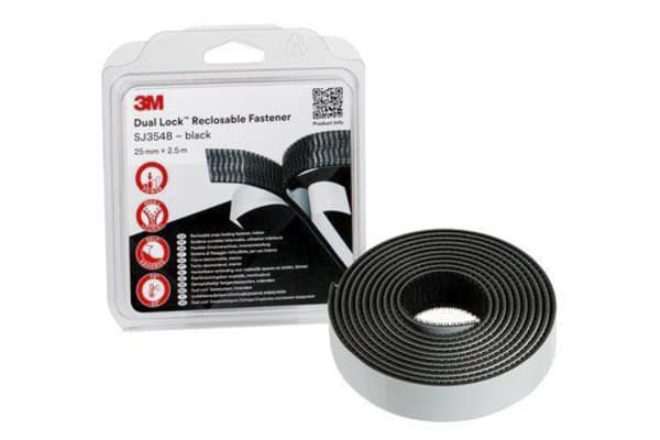Product image for 3M Dual Lock SJ3540 black 19mm x 2.5m