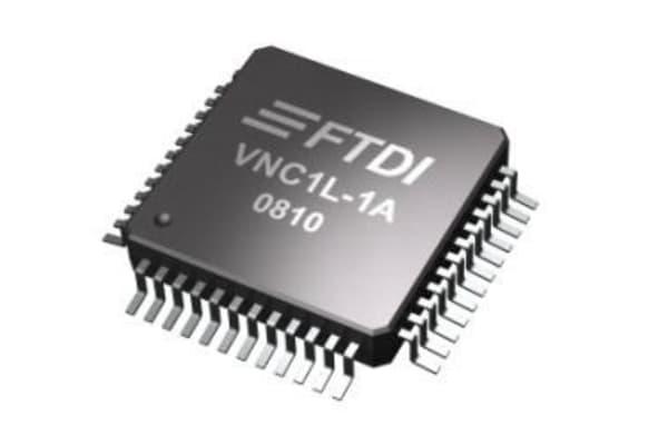 Product image for FTDI Chip VNC1L-1A, USB Controller, 2-Channel, 12Mbps, USB 1.1, USB 2.0, 3.3 V, 48-Pin LQFP