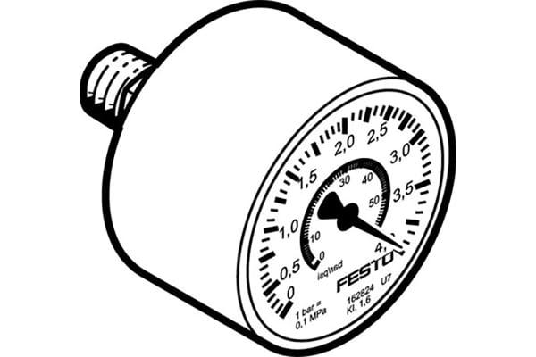 Product image for MAP-40-4-1/8-EN precision pressure gauge