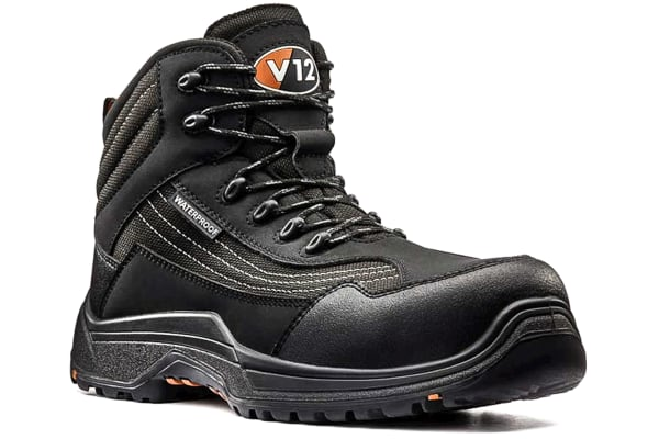 Product image for CAIMAN WATERPROOF SAFETY BOOT BLACK/GRAP