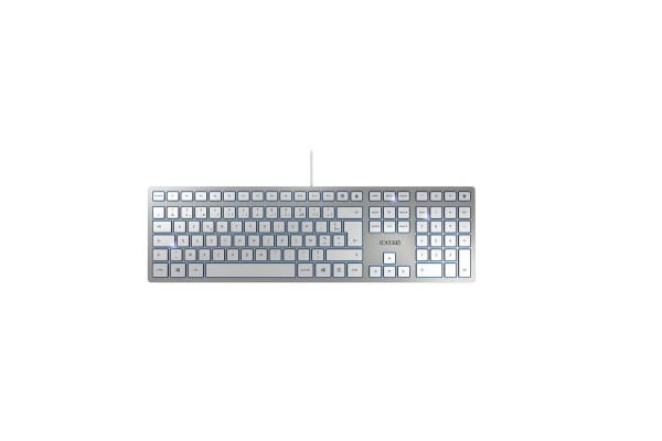 Product image for CHERRY KC 6000 SLIM SILVER - FRENCH