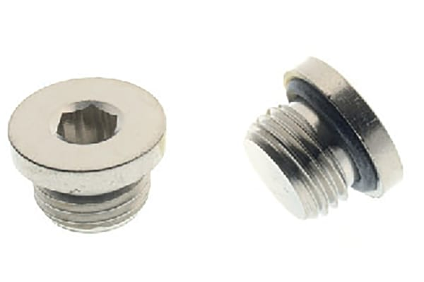 Product image for MALE PLUG WITH NBR ORING - BSPP 1/8
