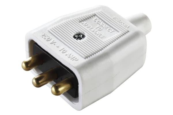 Product image for 10A 3 PIN HEAVY DUTY MAINS IN-LINE CONNE
