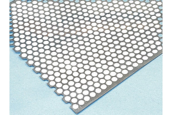 Product image for Perforated Steel Sheet, 2mm Hole, 1m x 500mm x 0.55mm