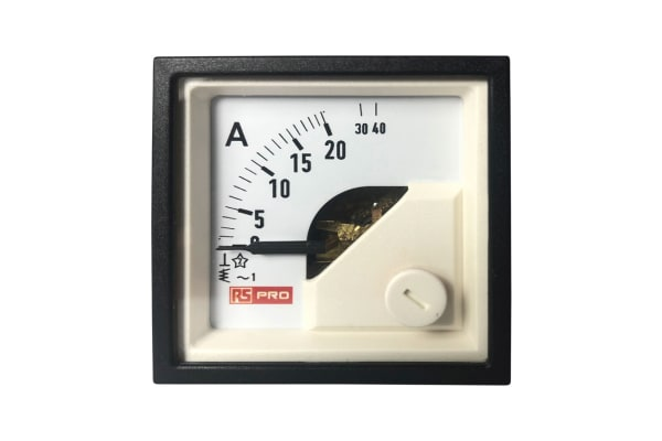 Product image for 48x48mm AC Ammeter Analogue Panel meter