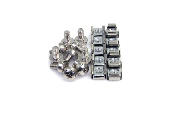 Product image for 100 PKG M6 MOUNTING SCREWS AND CAGE NUTS