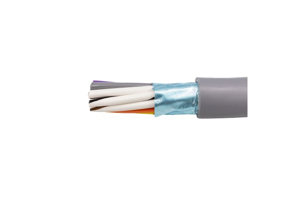 Product image for Alpha Wire 12 Core Screened Industrial Cable, Grey