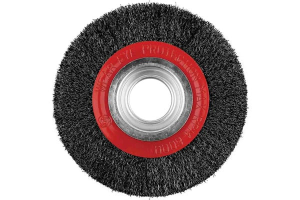 Product image for STEEL WIRE WHEEL BRUSH,125MM DIA X30MM W