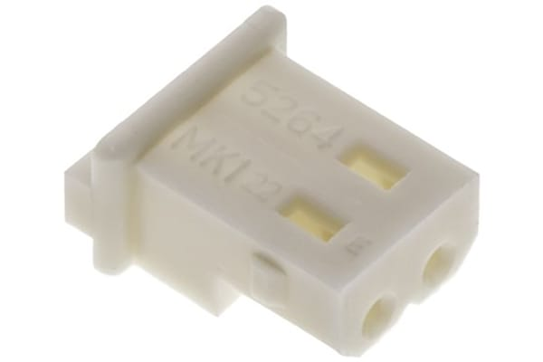 Product image for Molex, Mini-SPOX Female Crimp Connector Housing, 2.5mm Pitch, 2 Way, 1 Row