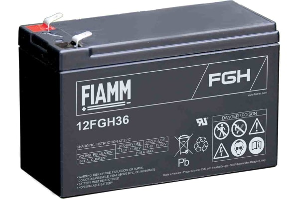 Product image for Fiamm 12FGH36 Lead Acid Battery - 12V, 9Ah