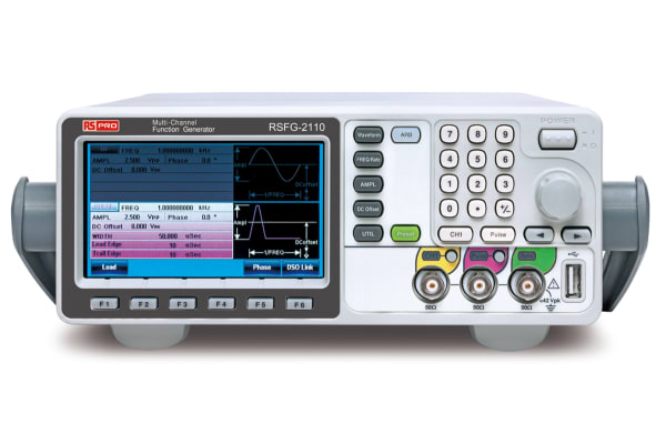 Product image for RS PRO RSFG-2110 Function Generator 25MHz (Sinewave) LAN, USB