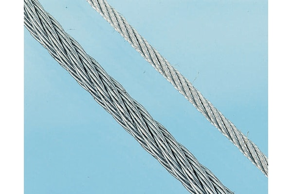 Product image for Galvanised wire rope,5mm dia x75m length