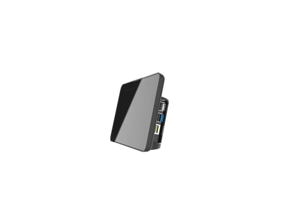 Product image for For Use With Raspberry Pi 4, Black Raspberry Pi Case