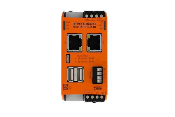 Product image for Kunbus RevPi Connect+, Industrial Computer, 20W, 1.2 GHz Quad-Core, BCM2837 1.2 GHz, 1 GB (RAM), 8 GB (Flash), 4 Linux