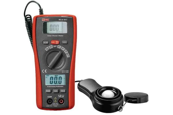 Product image for RS PRO Solar Power Meter & Digital Multimeter DT-1307