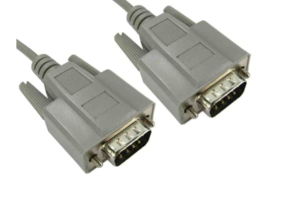 Product image for RS PRO DB9 VGA to DB9 VGA cable, Male to Male, 2m