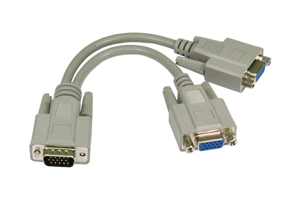 Product image for RS PRO VGA Cables to VGA Cables cable, Male to Female, 200mm