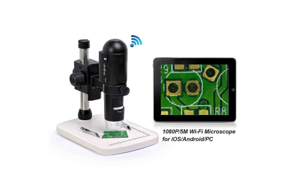 Product image for RS PRO Digital Microscopes, 3M, 5M, 8M, 12M pixels, Wi-Fi, x10 - 230