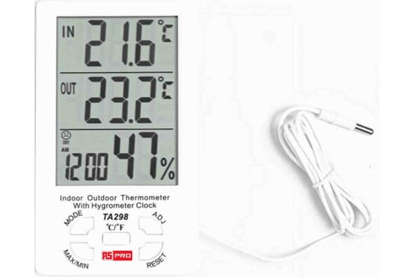 Product image for RS PRO TA298 Hygrometer, Max Humidity 99%RH