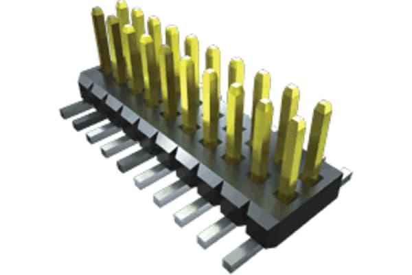 Product image for Samtec, FTM, 6 Way, 2 Row, Vertical Header