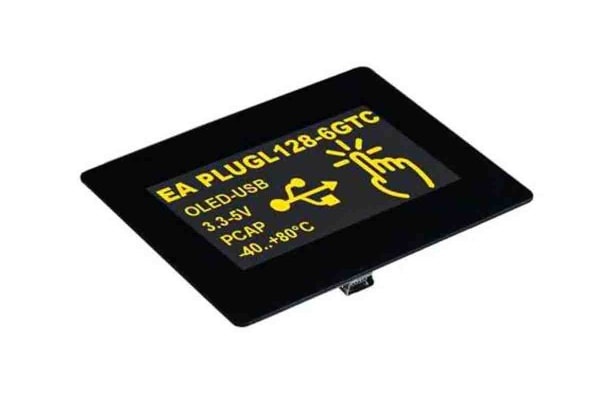 Product image for Electronic Assembly EA PLUGL128-6GTCZ OLED Display