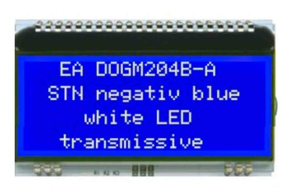 Product image for 4X20 COG STN BLUE, 3.3V, SPI,I2C