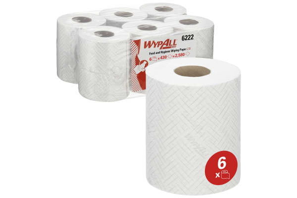 Product image for WYPALL REACH FOOD & HYGIENE WIPING PAPER