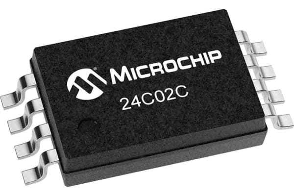 Product image for Microchip 24C02C/P, 2kbit EEPROM Memory Chip 8-Pin DIP
