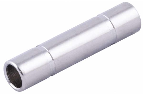 Product image for RS PRO Tube-to-Tube Pneumatic Straight Tube-to-Tube Adapter, Push In 8 mm to Push In 8 mm