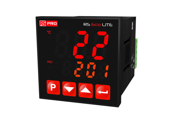 Product image for RS PRO On/Off Temperature Controller, 48 mm x 48 mm, Thermocouple Input, 10 → 30 V dc Supply