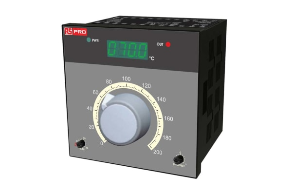 Product image for RS PRO On/Off Temperature Controller, 96mm x 96mm, RTD Input, 230 V ac Supply