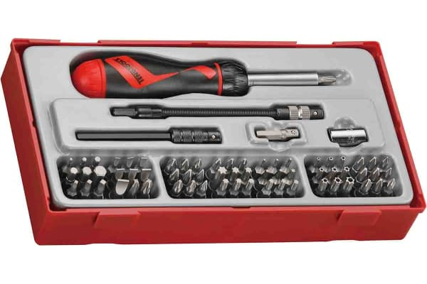 Product image for Teng Tools Bits driver set 74 Pieces, Hexagon, Phillips, Slotted, Torx