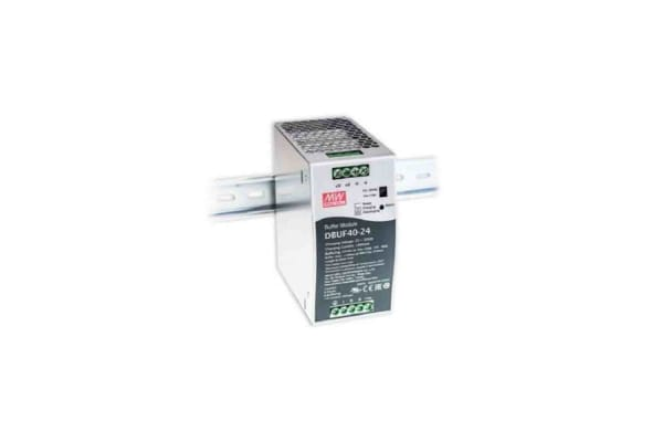 Product image for Mean Well DBUF40-24, DIN Rail Power Supply - 24V Input Voltage, 22V Output Voltage