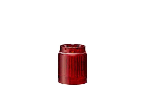 Product image for Patlite LR4 LED Pre-Configured Beacon Tower None, 1 Light Elements, Red, 24 V dc
