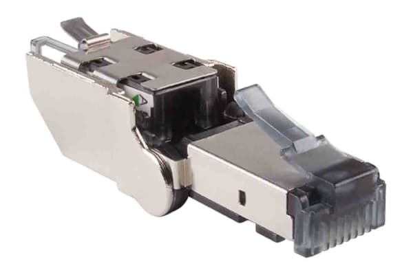 Product image for Male Cat6a Rotating RJ45 Connector