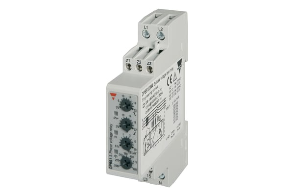 Product image for Carlo Gavazzi Phase, Volatge Monitoring Relay With SPDT Contacts, 208 → 480 V ac Supply Voltage