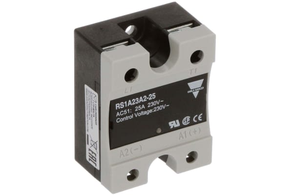 Product image for 25 A Solid State Relay, Zero Switching, Panel Mount, Thyristor, 265 Vac Maximum Load