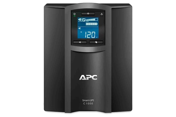 Product image for APC 1000VA UPS Uninterruptible Power Supply, 230V Output, 600W
