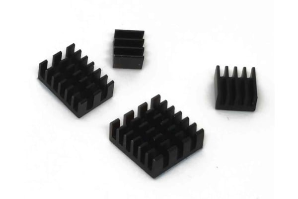 Product image for HEAT SINK KIT FOR RASPBERRY PI 4B - BLAC