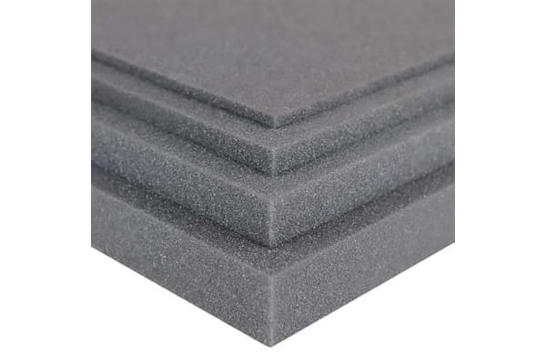 Product image for RS PRO Grey Rubber Sheet, 950mm x 950mm x 15mm