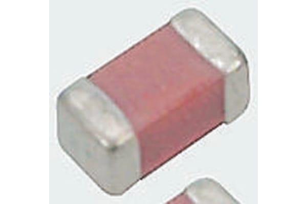 Product image for Murata, 0603 (1608M) 2.2nF Multilayer Ceramic Capacitor MLCC 50V dc ±5% , SMD GRM1885C1H222JA01D