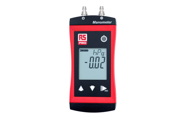 Product image for RS PRO Differential Manometer With 2 Pressure Port/s, Max Pressure Measurement 2bar