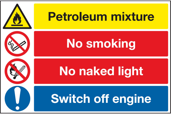 Product image for PVC label 'Warning.naked lights'