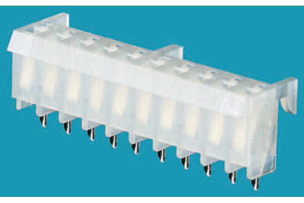 Product image for 10w top entry PCB socket,3.96mm pitch