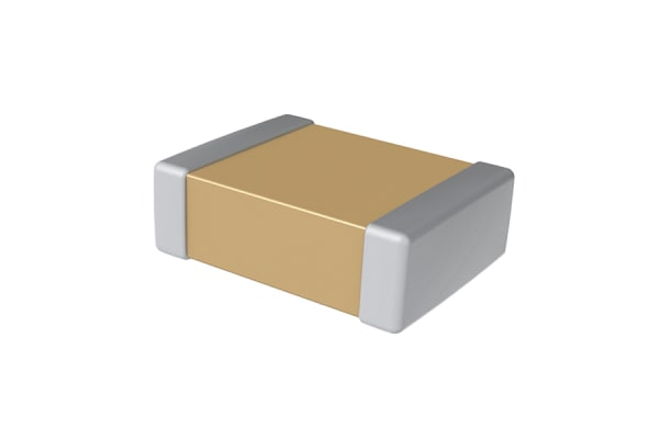 Product image for 0805 X7R ceramic capacitor,100nF 50V